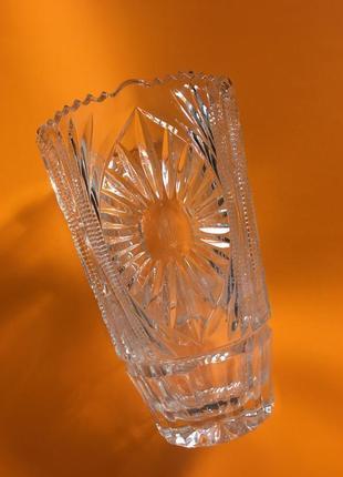 Ликвидация срочно🔥 винтаж высокая хрустальная ваза
