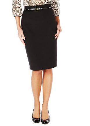 Marks  spencer стильная юбка карандаш черного цвета