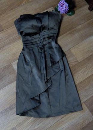 Платье коричневое бюстье коктельное 48 размер на выпускной pink boom