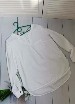 Шикарная белоснежная рубашка свободный фасон размер л f&f
