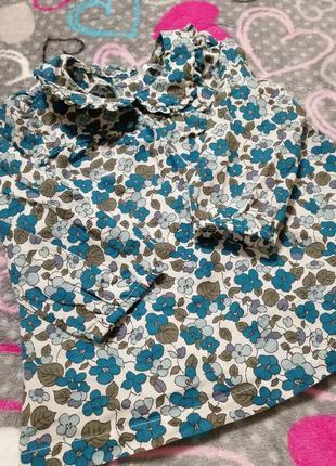 Очень легкая летняя туника блузка с длинным рукавом