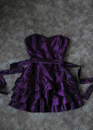 Платье розовое бюстье мини 46 48 размер на выпускной нарядное bay