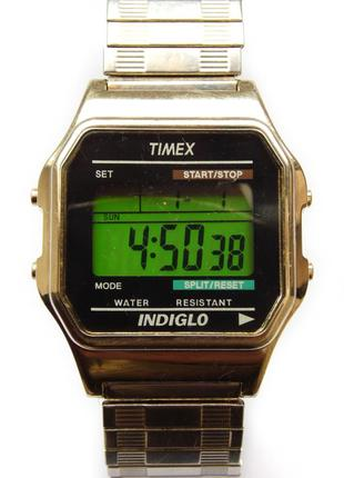 Timex ретро мужские часы из сша хронометр будильник подсветка wr
