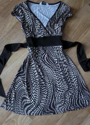 Платье короткое мини 46 размер принт бюстье сарафан нарядное selected femme