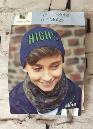 Набор шапка снуд для ребенка сэт шарф шапочка