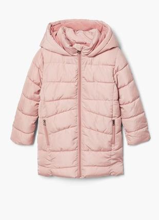 Длинная утеплённая куртка от mango