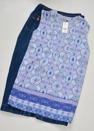 George красивая нежная блуза с принтом и камушками