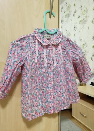 Легкая блуза next в цветочки
