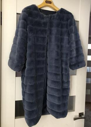 Стильная шубка меховая накидка искусственный мех пальто италия