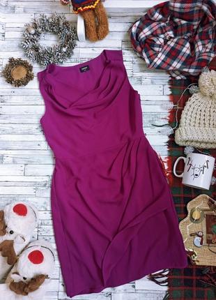 Вечернее яркое платье миди на запах oasis