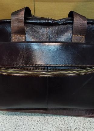 Портфель-сумка натуральная кожа