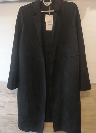 Кардиган/пальто zara под замш
