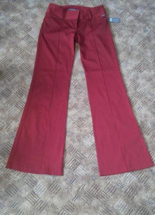 Брюки штаны красные бордовые офисные 44 46 размер новые river island