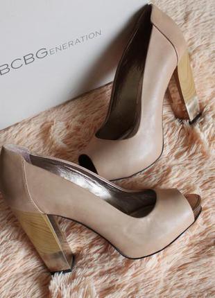 Туфли кожа открытый носочек bcbgeneration 39,5-40