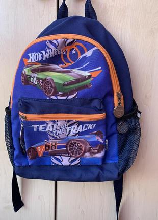 Дошкольный рюкзак hotwheels для мальчика