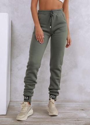 Теплые штаны с нашивками на манжетах, размера s, m, l, xl, xxl, 3xl