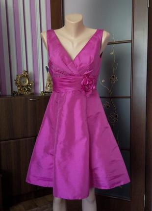 Платье сарафан розовое бюстье миди на выпускной 48 50 размер wedding