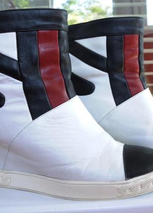Кожаные полусапожки\ботинки деми sasha fabiani