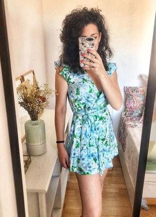 Ромпер платье zara в цветы