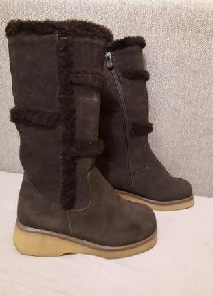 Зимние сапоги для девочки lookfoot ( польша ) натуральная замша, качество супер