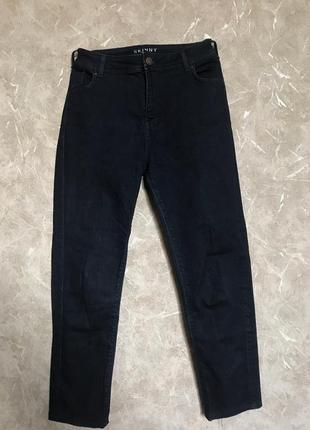 Джинсы skinny темно синие3 фото