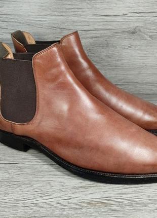 Crockett & jones 41p ботинки сапоги челси кожа англия