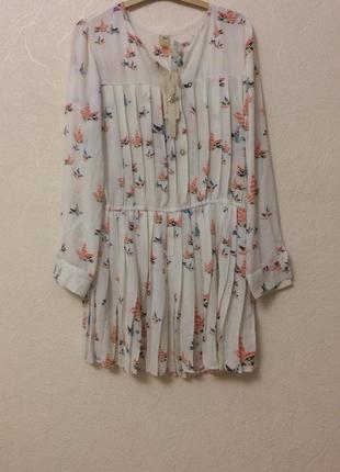 Шифоновая туника-платье
