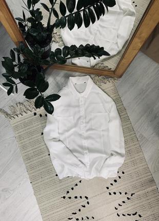 Біла котонова блуза від asos🌿