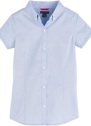 Рубашка школьная tommy hilfiger для девочки.  оригинал новая.