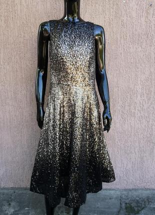 Невероятно красивое вечернее нарядное праздничное платье в пайетках