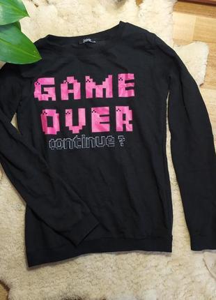 Свитшот свитер худи батник кофта пуловер черный