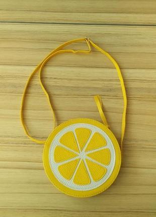 Сумка у вигляді лимонної дольки