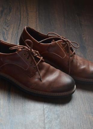 Кожаные мужские туфли, ботинки clarks