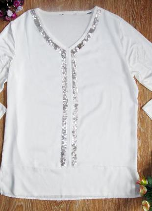 Красивая блуза с пайетками от тсм р.40/42, германия