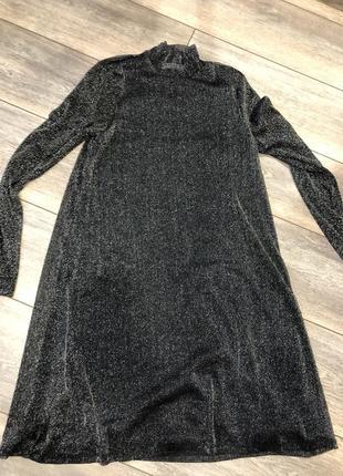 Платье трапеция с люрексом vila s