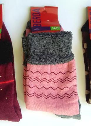 Носки женские махровые с облегченной резинкой (медицинские) набор с 3 пар