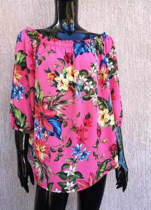 Яркая шифоновая блуза f&f
