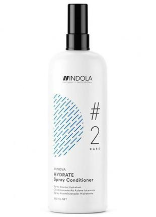 Увлажняющий спрей-кондиционер для сухих волос начатый indola innova hydrate spray