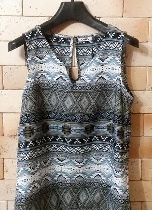 Only блуза- топ с трендовым геометрическим принтом в оттенке индиго