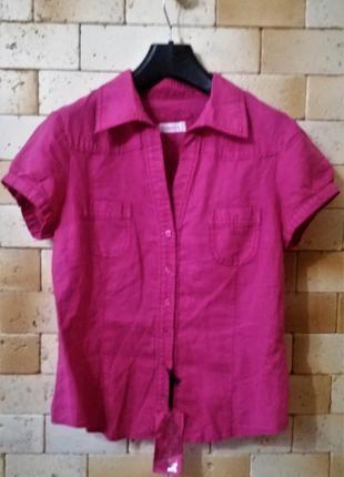 Yessica c&a рубашка из хлопка и волокон  китайской крапивы  в оттенке фуксия