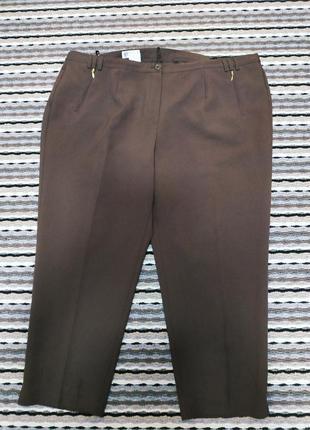 Шоколадные женские брюки  / деми./ батальный размер