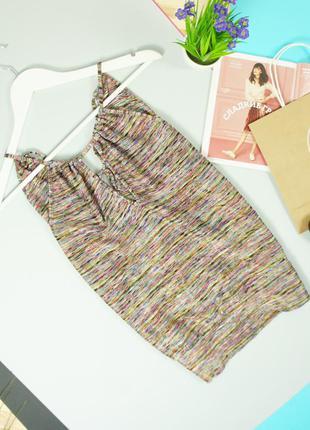 Next стильная блуза в переплетением из разноцветной мерцающей пряжи!