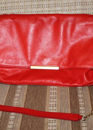 Фирменная кожаная сумка zara