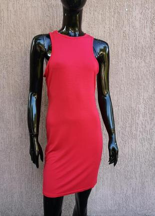 Новое вискозное яркое платье майка boohoo