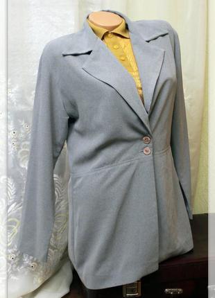 Удлиненный,пепельный пиджак,р.l