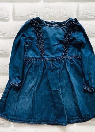 Next стильное джинсовое платье на девочку  12-18 мес