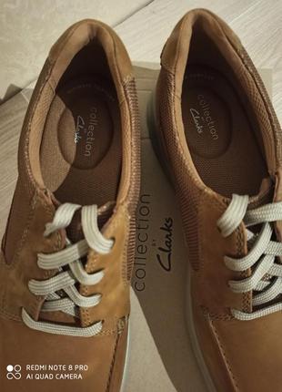 Clarks премиум кожа оригинал туфли 48