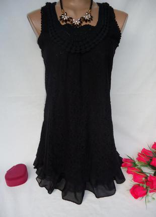 Красивое кружевное платье-туника  размер м-l