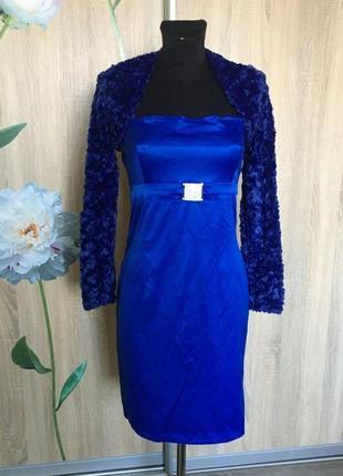 Стильное, новое платье с болеро defilelux турция, р.36 eur, xs-s