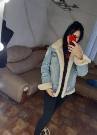 Джинсовая куртка с норкой